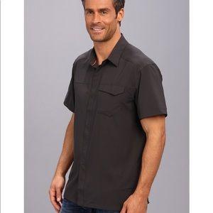 Arc'teryx Men's Skyline Button Down Short Sleeve Shirt Large Graphite Gray